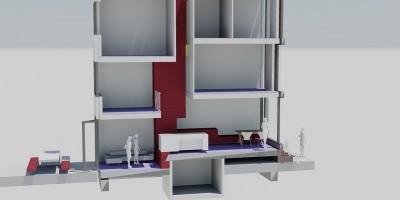 Coendersbuurt Delft kavel architect ontwerp doorsnede