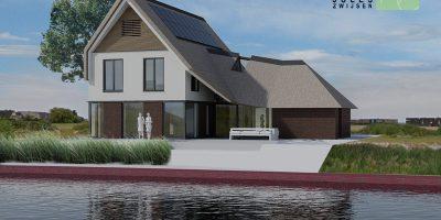 villa rieten dak moderne woning architect gooi en vechtstreek