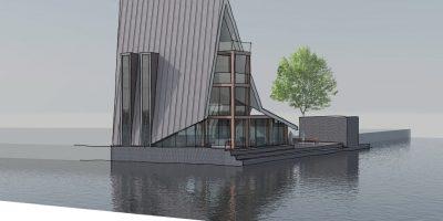 architect kavel special waterrijk woerden villa zinken dak