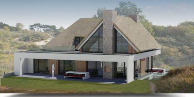 moderne villa luxe woning duinen rieten kap architect modern living kavel