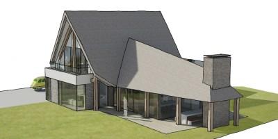 bouwgrond gooi vechtstreek architect moderne luxe villa zuwe