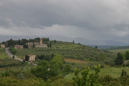 View from San Gimignano, Italy