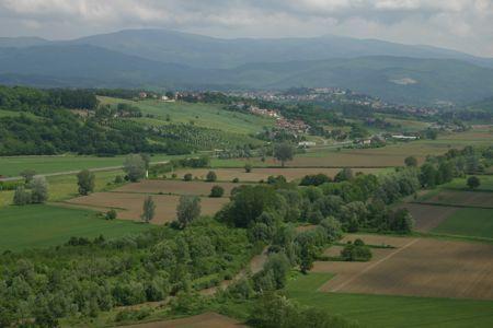 View from Poppi, Tuscany, Italy