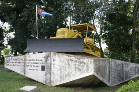 Bulldozer used in the Battle of Santa Clara, Cuba