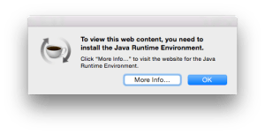 """To view this web content, you need to install the Java Runtime Environment."""