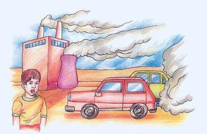 تلوث البيئة رسومات عن التلوث