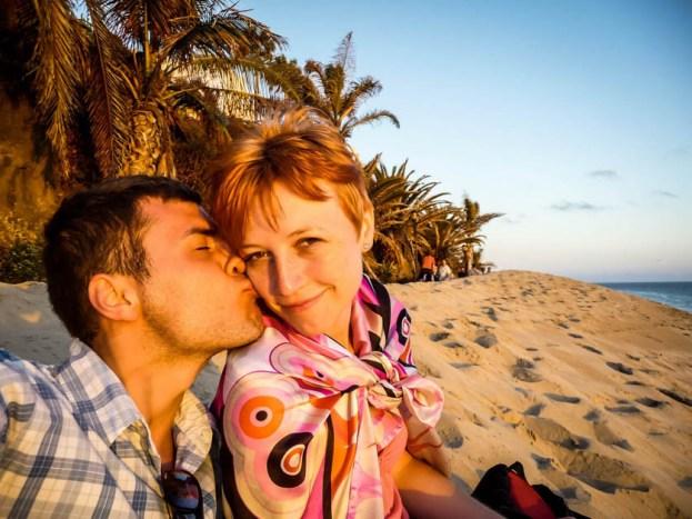 Fuertaventura Jandia Playa zachód słońca