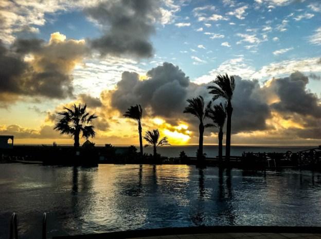 Hotel Barcelo Jandia Playa zachód słońca