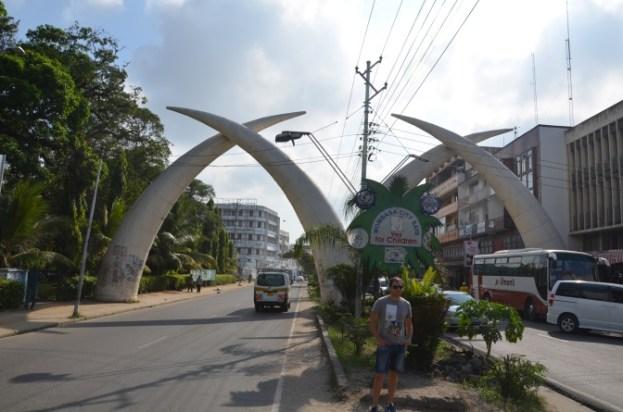 Kły słonia Mombasa Kenia