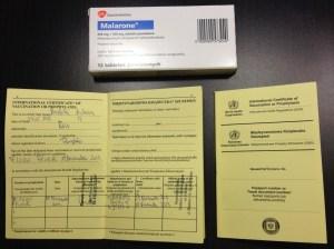 Malarone i książeczka szczepień