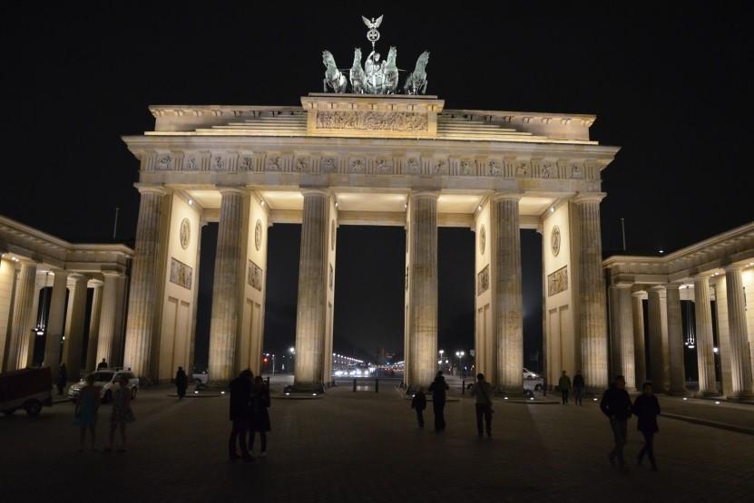 Berlin Brama Bradenderburska nocą