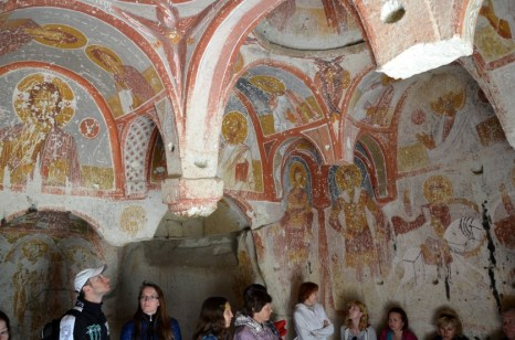 Kapadocja kaplica freski Turcja