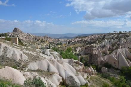 Kapadocja panorama miasto Uchisar Turcja