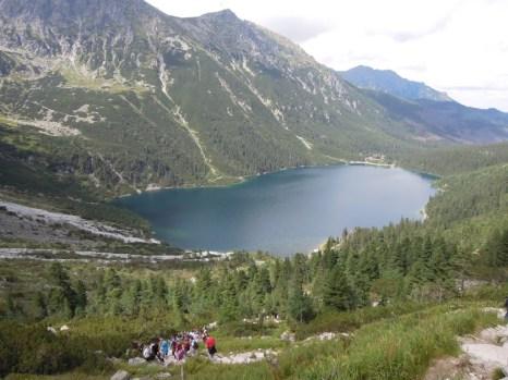 Widok na Morskie Oko z Czarnego Stawu pod Rysami Tatry