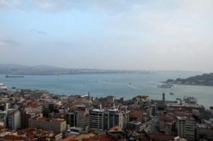 Cieśnina Bosfor - panorama Stambuł Turcja