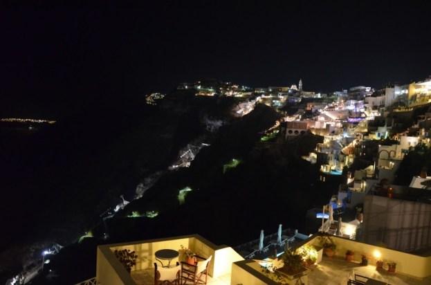 Santorini w nocy