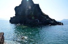 Snorkeling w kalderze Santorini
