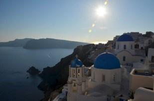 Widokówka z Oia Santorini
