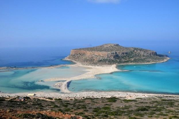 Zatoka i plaża Balos Kreta