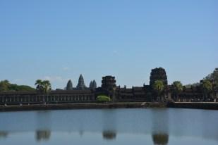 Angkor Wat z daleka Kambodża