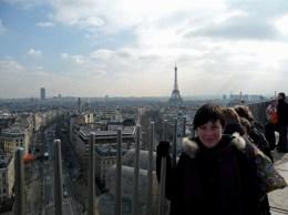 Panorama z Łuku Triumfalnego Paryż