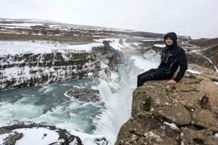 Gullfoss z góry Islandia