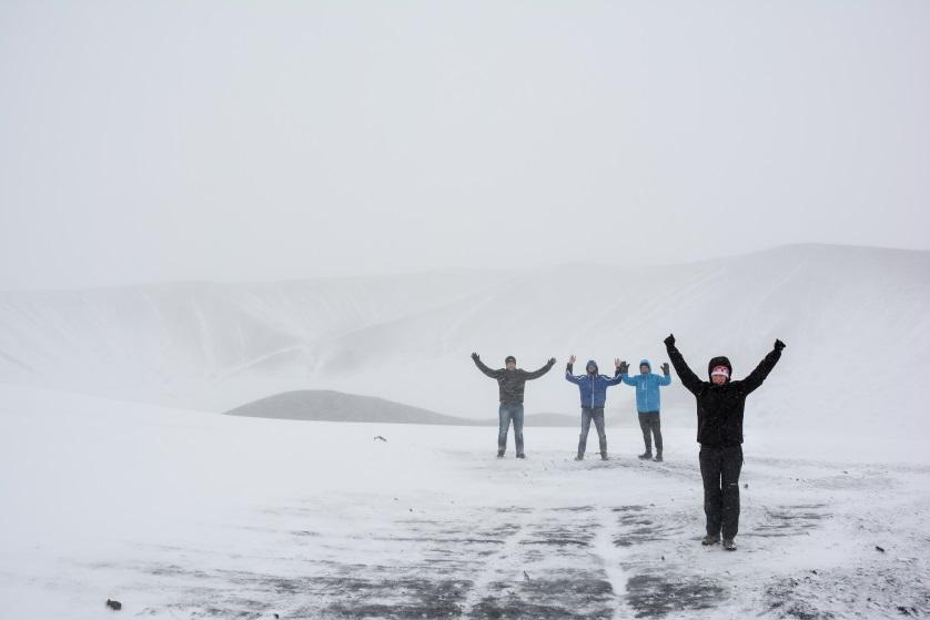 Krater wulkanu Hvejfall Islandia