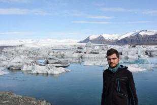 Super pogoda nad lodową laguną Islandia