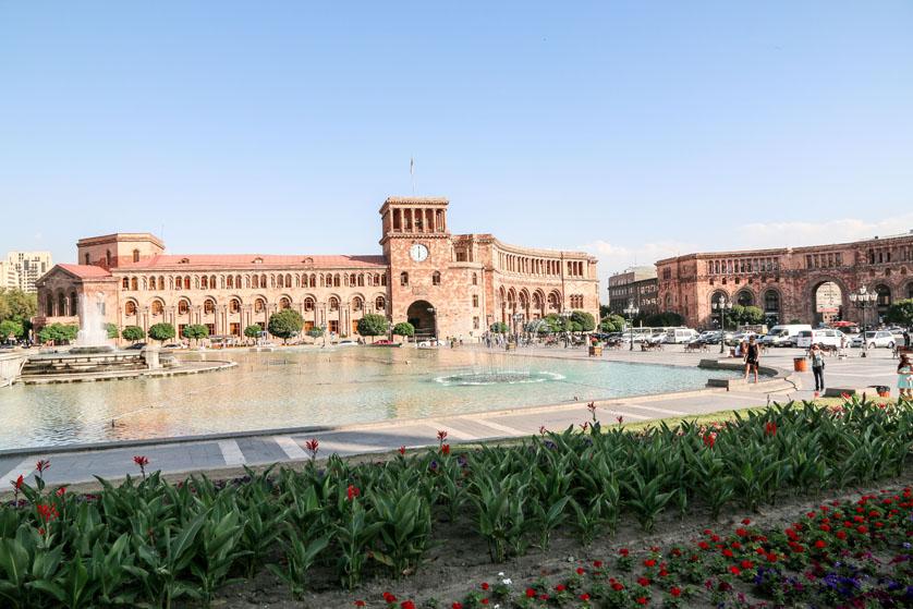 Plac Republiki w Erywaniu Armenia
