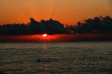 Zachód słońca w Batumi Gruzja