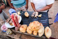 Puerto Maldonado jedzonko na targu Peru