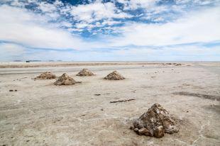 Salar de Uyuni kopce z soli Boliwia