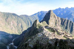 Widok na Machu Picchu i rzekę Urubamba Peru