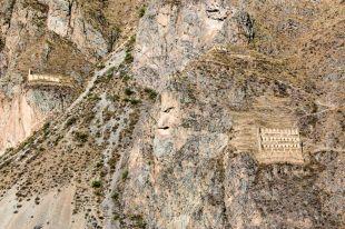 Widok z twierdzy Ollantaytambo 2 Peru