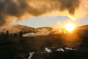 Wschód słońca 2 wycieczka Salar de Uyuni Boliwia