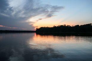 Zachód słońca jezioro Sandoval 2 Peru