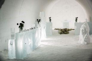 Lodowa w sala ślubna w Kakslauttanen Finlandia