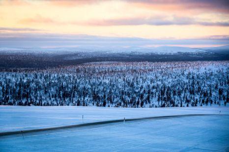 Widoki ze szczytu góry Kaunispää 2 Finlandia