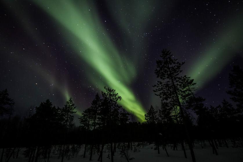 Zorza polarna w Finlandii 3