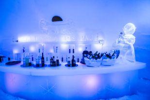 Lodowy bar w Wiosce Świętego Mikołaja Finlandia