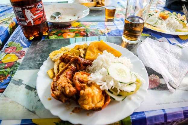 Krab na kolację w Playa Larga