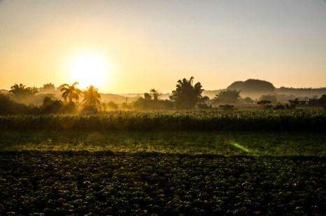 Wschód słońca Dolina Vinales