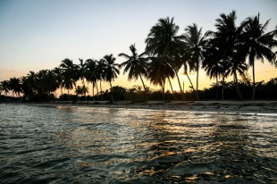 Zachód słońca w Playa Larga