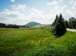 Izerka widok na górę Bukovec