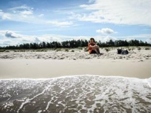 Na plaży Słowiński Park Narodowy 2