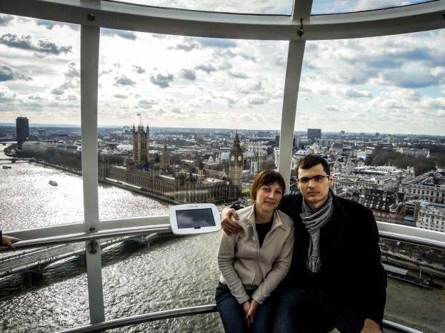 Panorama Big Ben z London Eye