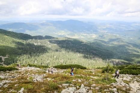 Panoramy z trasy na Babią Górę szlakiem żółtym