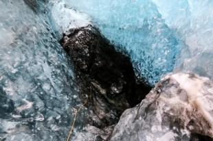 Islandia zimą jaskinia lodowa