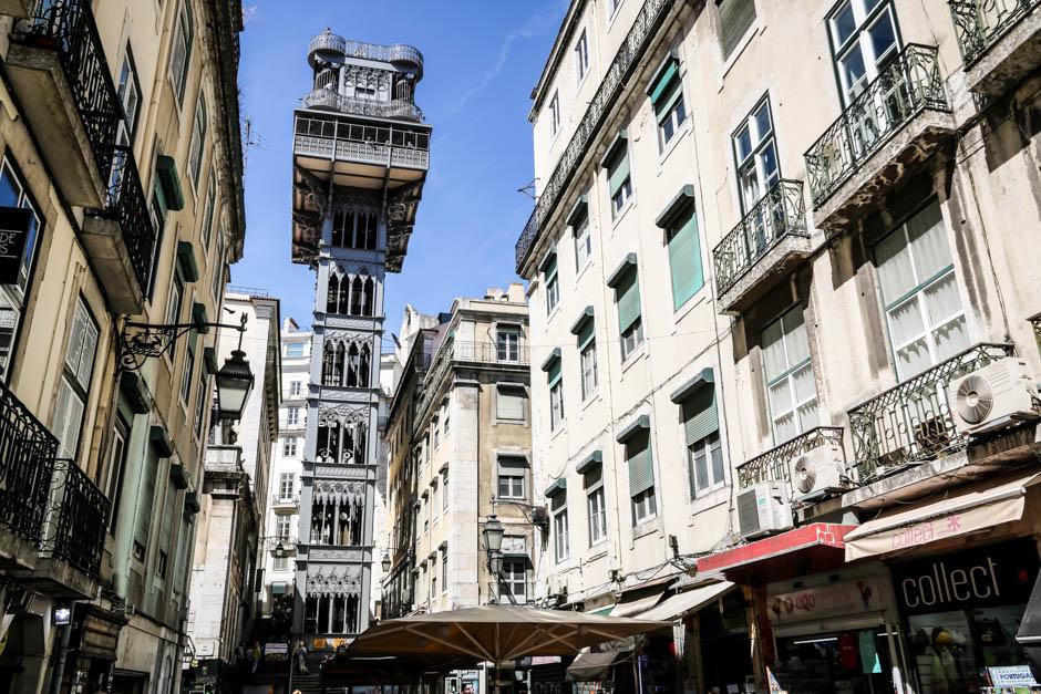 Lizbona Elevador de Santa Justa 2