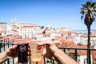 Lizbona Miradouro das Portas do Sol i sangria